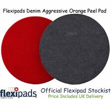 "Flexipads Denim 135mm (5.5"") Aggressive Orange Peel Sanding Pad : Velcro® Fixing"