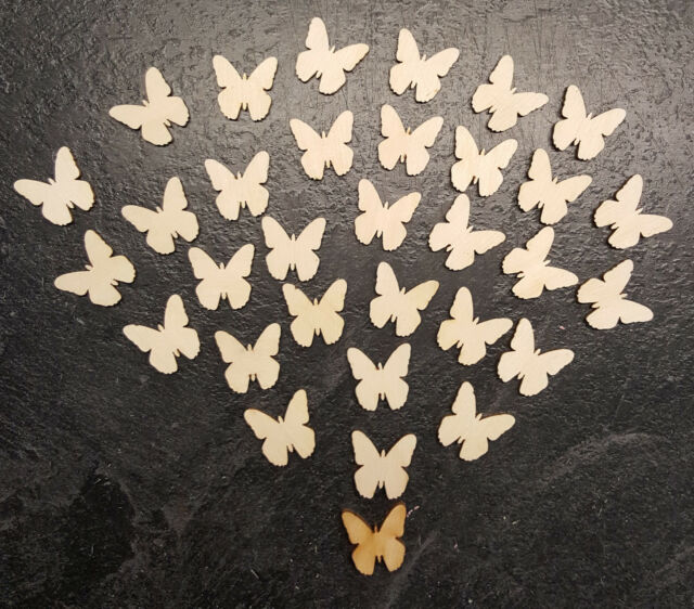 Butterfly Shapes for Craft or Scrap booking cut from Laser Ply 20x20mm