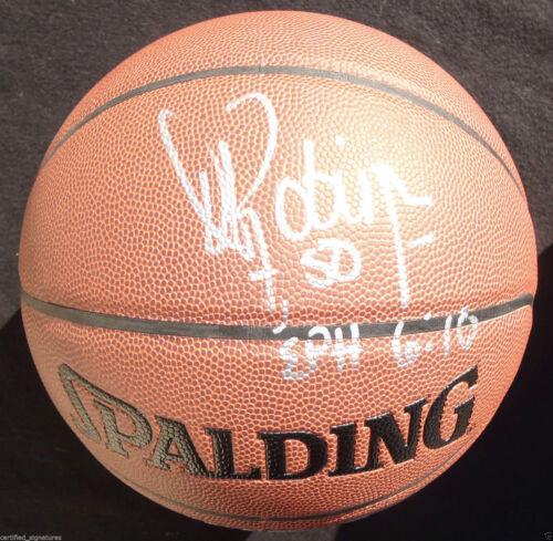 DAVID ROBINSON SIGNED NBA BASKETBALL SAN ANTONIO SPURS MVP ALL STAR CHAMPION K1