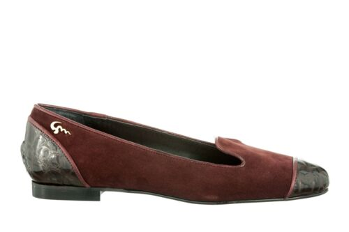 Italy Bordeaux Ballerina Mori Flats Made Leather 42 Slip Shoes Bordo Schuhe On 5OzOUn07