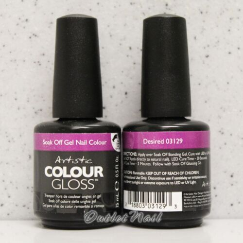 Artistic Colour Gloss DESIRED #03129 WINTER 2013 UV Gel Nail Polish Design