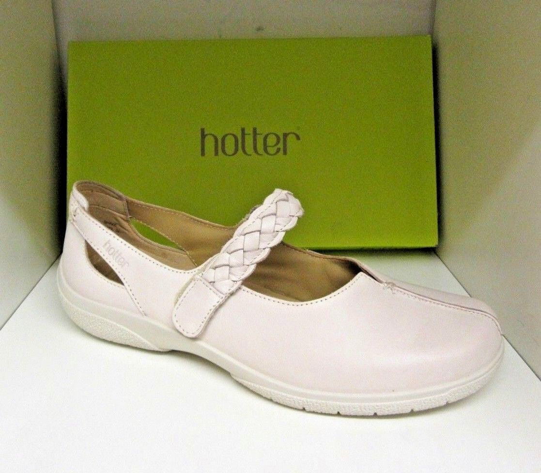 HOTTER SHAKE CREAM LEATHER chaussures Taille 8 EXTRA WIDE BRAND NEW IN BOX