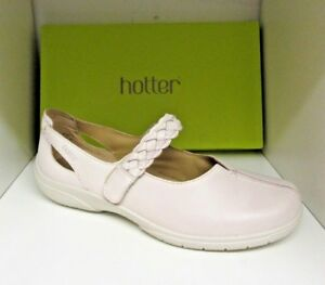66651b3b295 HOTTER SHAKE CREAM LEATHER SHOES SIZE 8 EXTRA WIDE BRAND NEW IN BOX ...