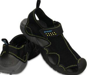 Men-039-s-CROCS-SWIFTWATER-Sandals-BLACK-ESPRESSO-BROWN-GREY-REALTREE-BLUE