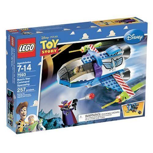 NEW IN SEALED BOX LEGO TOY STORY Buzz's Star Command Spaceship 7593   257 p RARE