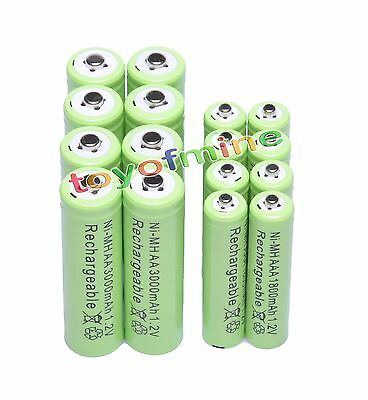 8x  AA 3000 mAh+8x AAA 1800 mAh NiMH rechargeable battery Cell G1
