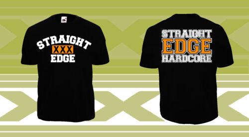 STRAIGHT EDGE T-Shirt SXE XXX X1X Hardcore Punk Minor Threat HC Black Flag Vegan