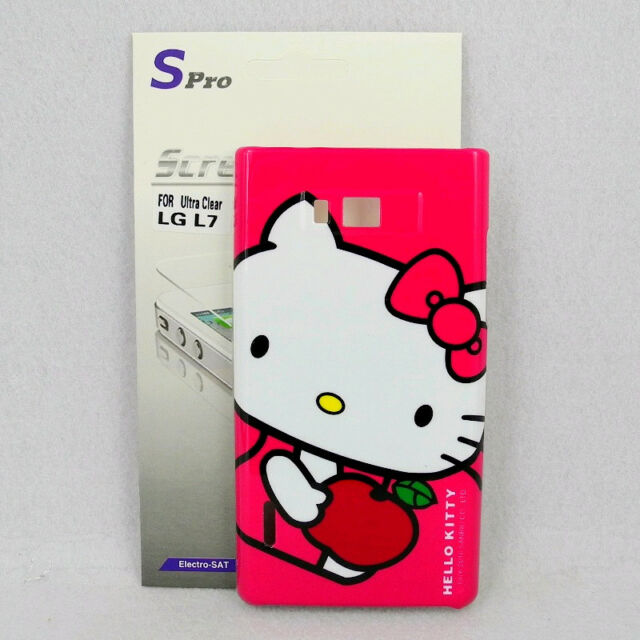 For LG Optimus L7 P700/P705 Hello Kitty Phone Case #D + Spro Screen Protector