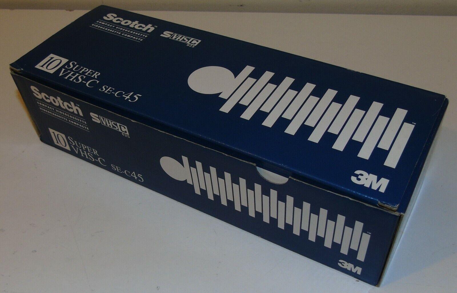 10 x Scotch Super VHS-C SE-C45 Camcorder Video Cassette Tape New & Sealed
