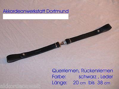 Querriemen für Akkordeon,ab 25cm bis 38cm Leder schwarz