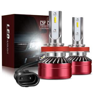 2x CSP H11 H9 H8 LED Headlight Bulb Kit Low Beam Fog Light 60W 6000K 12000LM