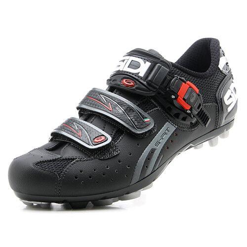 New SIDI Dominator 5 Fit Mega Mountain MTB Cycling Shoes Black Wide EU40-43