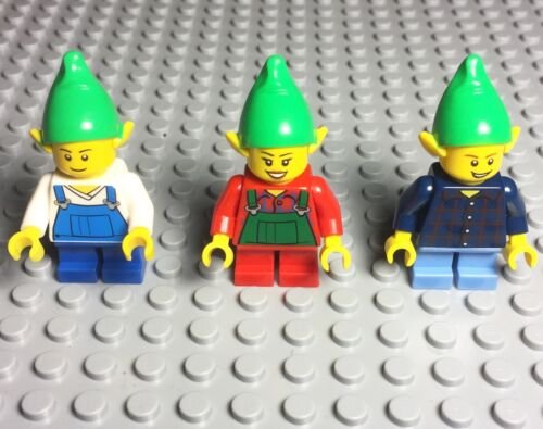 Lego X3 New Elf Christmas Boy Female Mini Figures Lot