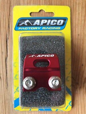 Apico Red Brake Hose Brake Line Clamp For Honda CR 250 1996 Motocross Enduro