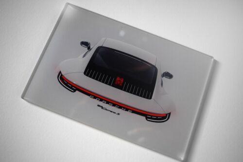 992 2019 artwork cristal acrílico son impresiones artísticas 15x10x0,5 cm Porsche 911