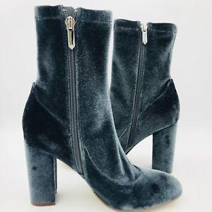 5944856dc SAM EDELMAN CALEXA S WOMEN S Marine Blue Velvet Ankle Boots NWOB ...