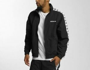Details about Adidas Originals TNT Tape Windbreaker Black White Track Top Jacket