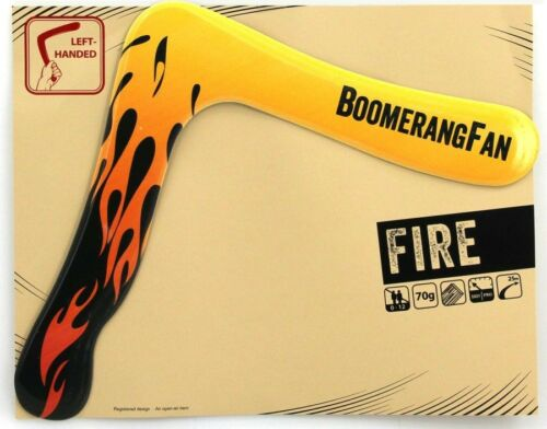 Boomerang FIRE 70 gr Zweiflügler Bumerang für Linkshänder