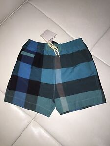 990c7f8d60c5a AUTHENTIC BURBERRY NOVA CHECK BABY BOY SWIM SHORTS BATHING TRUNKS SZ ...