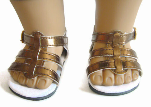 "For 18/"" American Girl METALLIC Copper Gladiator Sandals Doll Clothes Accessories"