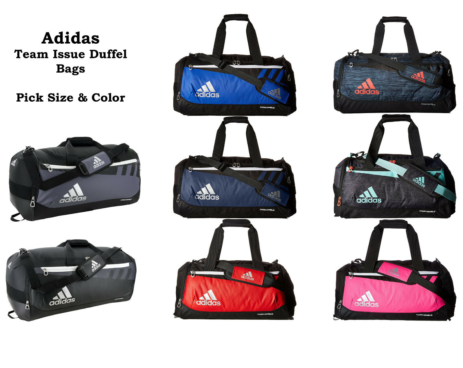 0a3a2c2bfac adidas Team Issue Medium Duffle 17 Colors Gym Duffel Blue Collegiate Navy  for sale online | eBay