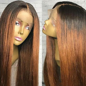 100-Human-Hair-Straight-Full-Lace-Wig-Brazilian-Hair-Ombre-1B-30-Lace-Front-Wig