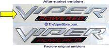 """2004-2006 Dodge RAM SRT-10 One Hood Emblem """"Viper - Powered"""" IGS-5029627AA"""