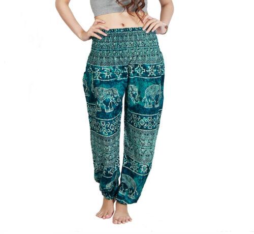 Harems Hippie Aladin Smocked  Pump Pluder Goa Yoga  Festival Damen Herren Hose