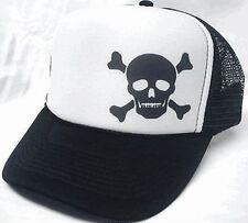 Poison Skull  Left Corner Trucker Hat mesh hat snapback hat Black