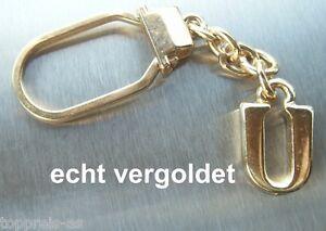 Luxus-accessoires Vereinigt Edler SchlÜsselanhÄnger Buchstabe U Echt Vergoldet Keychain Weihnachtsgeschenk ZuverläSsige Leistung