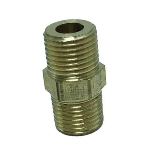 """G1//8/"""" Male*G1//8/"""" Male Thread Adapter Brass Pipe Tube Fitting Bushing DN6xDN6"""