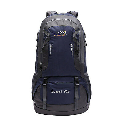 60L Camping Travel Rucksack Waterproof Mountaineering Outdoor Backpack Hiking HQ