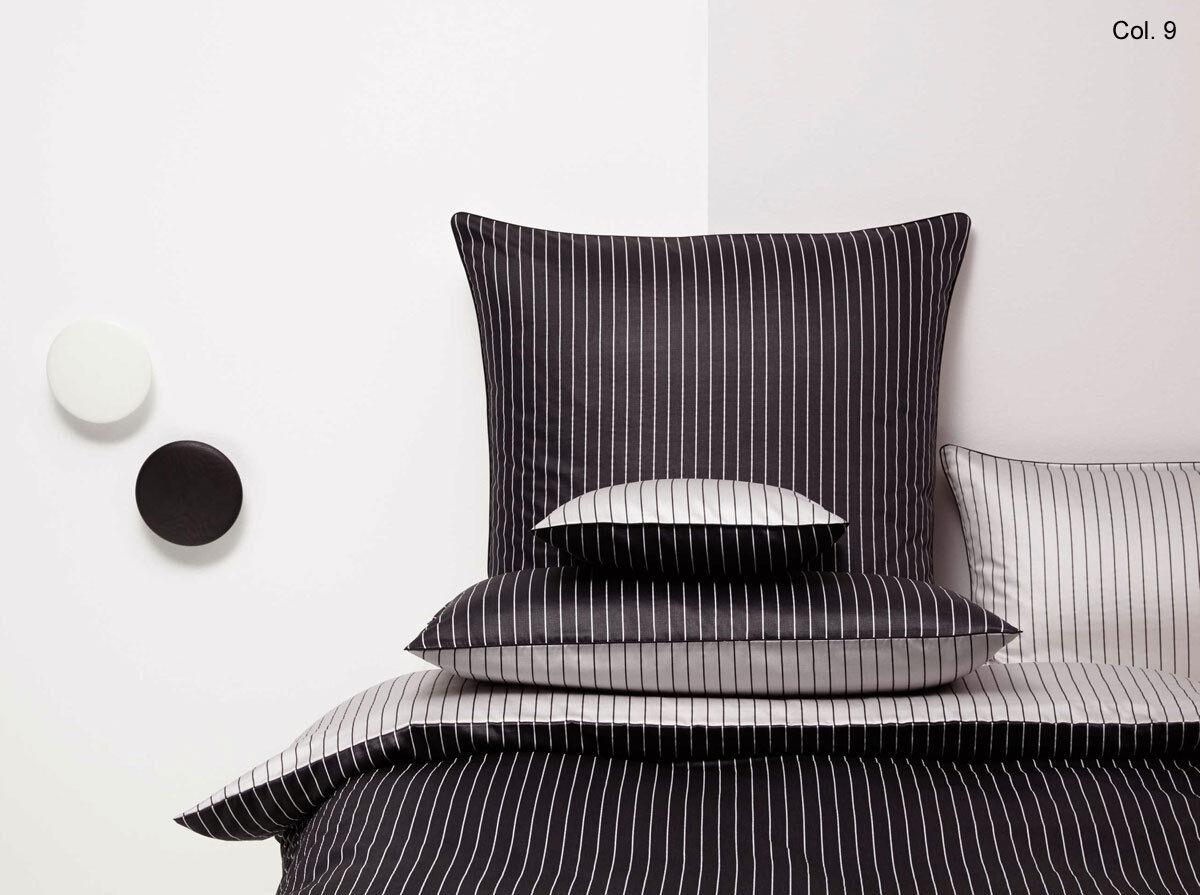 Coverot Maco-Satin Bettwäsche Lino (746), 155x220cm - schwarz - Angebot