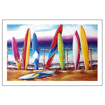 Surfers Break Tea Towel Summer Life beach Scene Surfboard - adventure Bar design