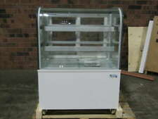 New Listingavantco 36 Curved Glass Refrigerated Bakery Display Case White Bc 36 Hcw