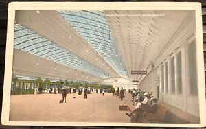 PASSENGER-CONCOURSE-Union-Statlon-Washington-DC-divided-back-postcard