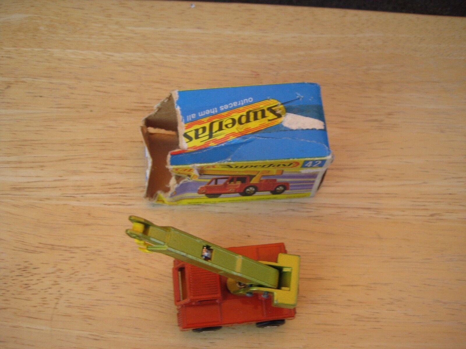 Matchbox Superfast No 42 Iron Fairy Crane LIGHT orange  RARE