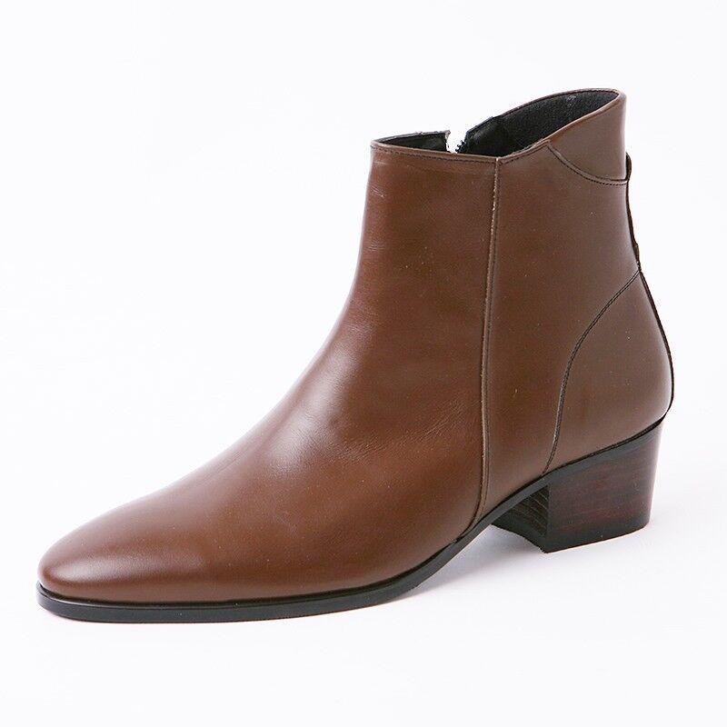 5c7dbe94f URBAN TRENDS Size Designer Italian Black Leather Boots #B272 8 Men's  nutjle3529-Boots