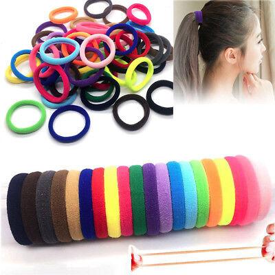 10pcs Ponytail Holder Elastic Rope Ring Hairband Women Girls Baby Hair Ties