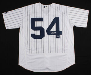 sale retailer dd1b8 d20da Details about Aroldis Chapman Signed New York Yankees MLB Majestic Jersey  (Beckett Hologram)