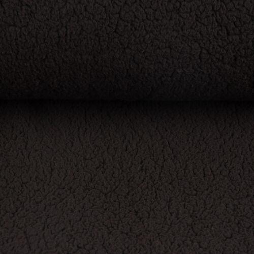 Fell Kunstfell Teddy Plüsch flauschig schwarz 1,5m Breite