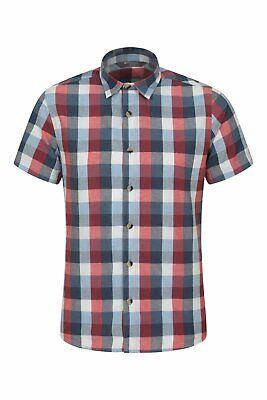 Mountain Warehouse Mens Short Sleeved Shirt 100/% Cotton Breathable/&Comfortable