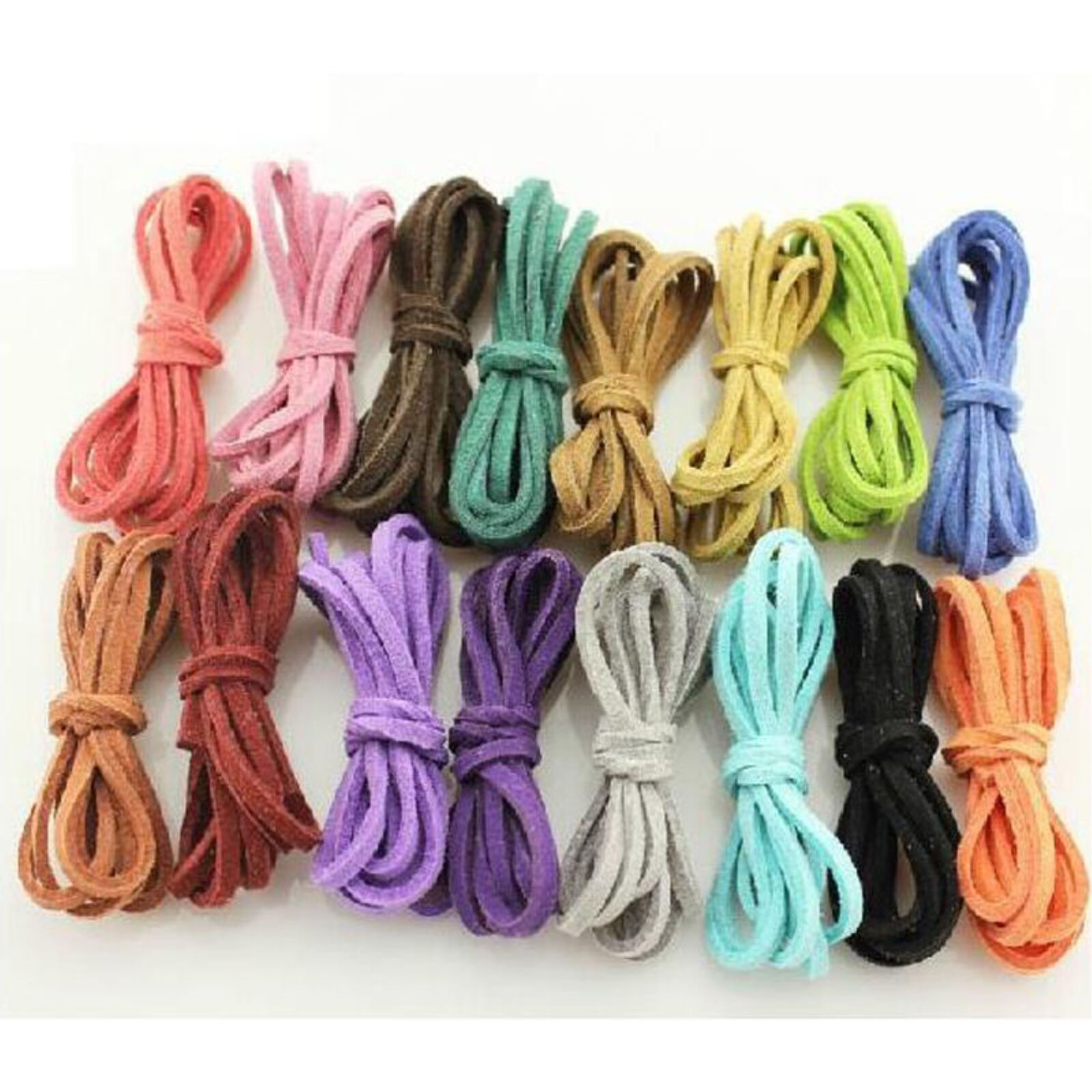 Wholesale 10yd 3mm Suede Leather String Jewelry Making Bracelet DIY Thread Cord