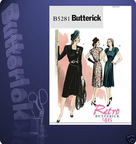 Schnittmuster Kleid 40er 32-38 2 ; Gr