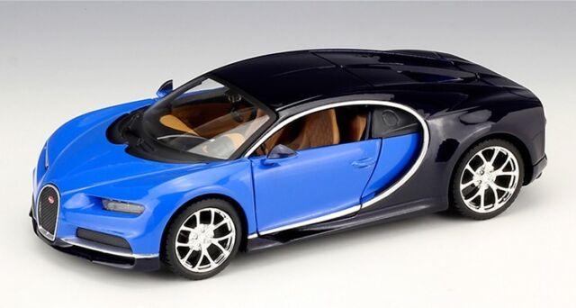 Bburago 1:24 Bugatti Chiron Diecast Alloy Model Car Vehicle Blue New in Box