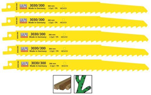 Sabre Lames De Scie 5 pièces ICO CV 300 mm pour scie bois s1617k WILPU 3030//300