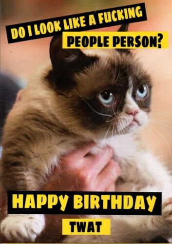 Do I Look Like A F****** People Person? Extremely Rude Birthday Card