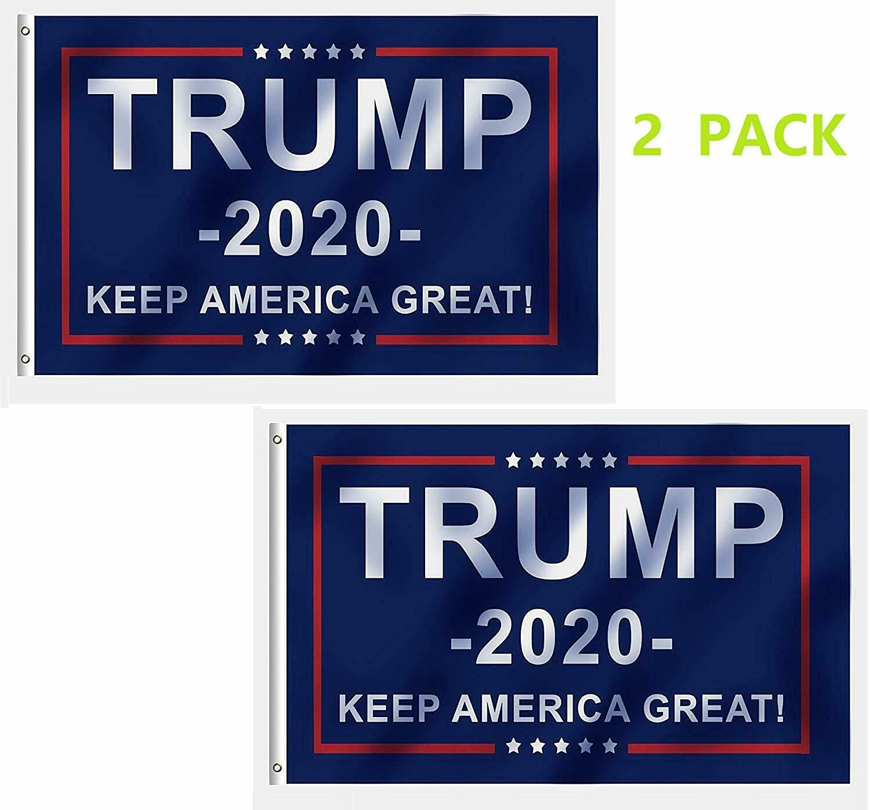 Trump 2020 Re-Election Flag 3x5 BAZOOKA Keep America Great Donald President USA