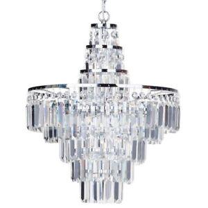 4 light large crystal bar ip44 rated bathroom chandelier light image is loading 4 light large crystal bar ip44 rated bathroom aloadofball Gallery