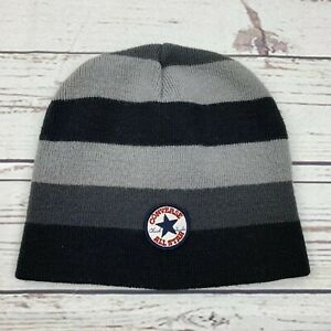 Details about Boys Converse All Star Chuck Taylor Snow Hat Beanie Black  Gray Youth Child M5 e06a82f0eb0